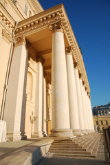 Colonnade of Bolshoi theatre, Moscow, Russia