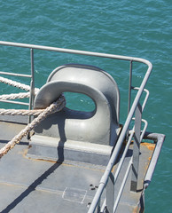 Equipment for mooring a ship