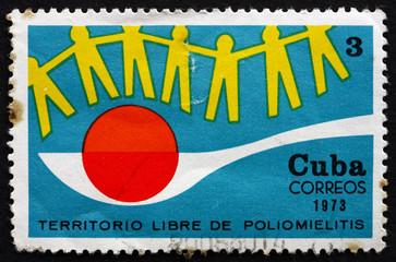 Postage stamp Cuba 1973 Anti-polio Campaign