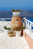 Traditional greek vase in Santorini Island (Greece)
