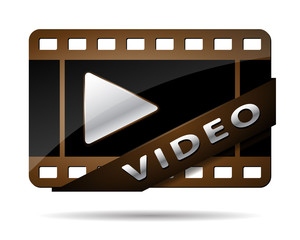 video button brown