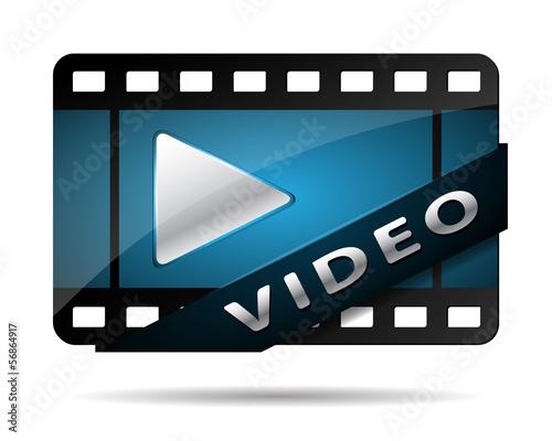 video button blue