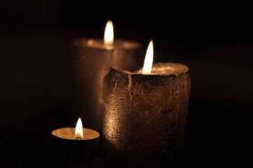 Candels with background of dark