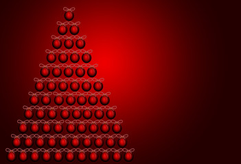 RED christmas tree illustration