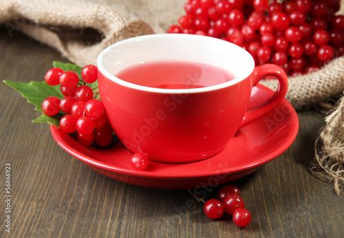 Still life with viburnum  tea