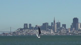 Sailboats in front of San Francisco skyline
