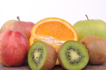 Fresh fruits isolated on white backgorund