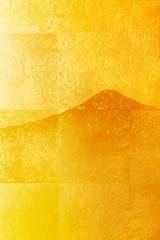 金屏風と富士山