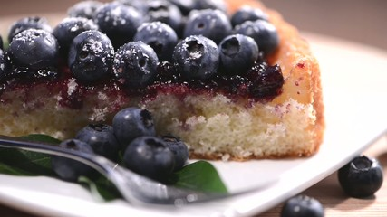 Sweet Blueberry Tart as seamless loopable video
