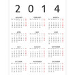 Simple 2014 year vector calendar