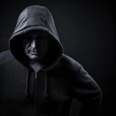 man in a hood