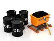 Coal and oil barrel