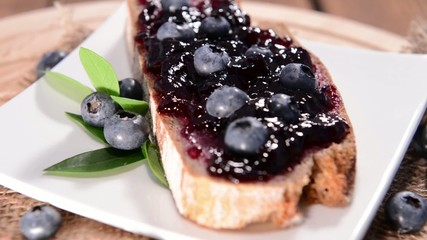 Loopable bread with Blueberry Jam