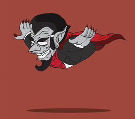 cartoon Count Dracula. Halloween monster