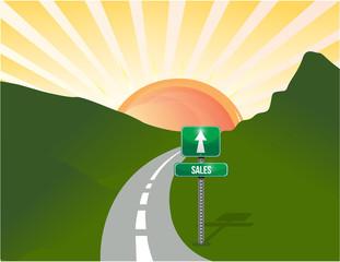 road to sales landscape background