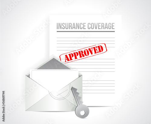 insurance coverage approved concept