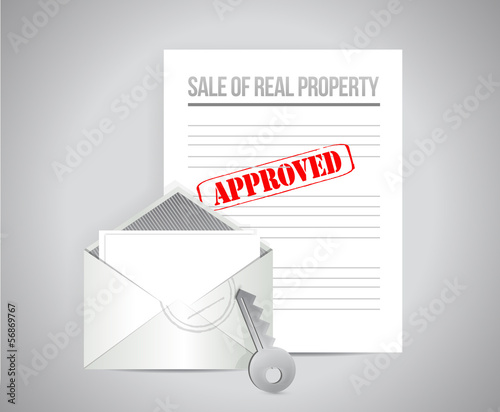 sale of real property illustration design