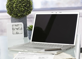 Closeup photo of laptop computer