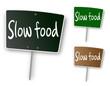"""Ardoise """"Slow food"""""""
