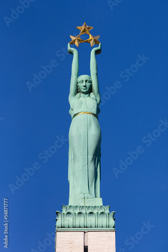 Freedom monument in Riga