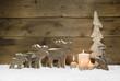 Weihnachtskarte - Holz natürlich als weihnachtlicher Hintergrund