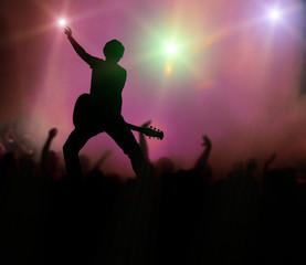 guitarist at rock concert