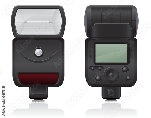 flash photo camera vector illustration