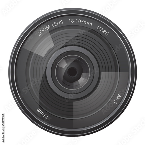 lens photo camera vector illustration