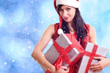 Weihnachten Frau Geschenke Mütze
