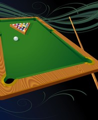 Billiards. Vector template