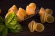 Pipe rigate, italian raw pasta