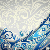 Abstract Blue Curve Background