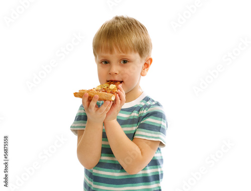 Little Boy with Pizza