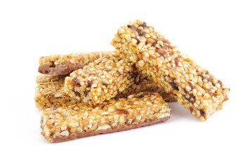 Heap of cereal bars