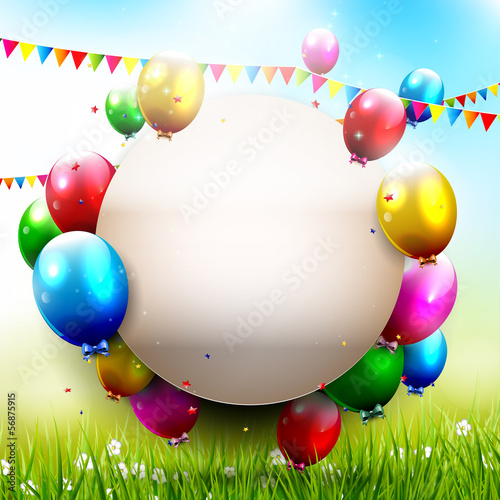 Birthday party - background with place for text