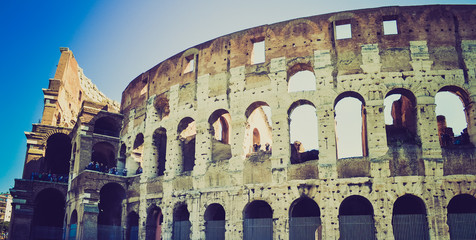 Colosseum, Rome retro look