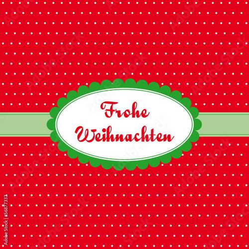 frohe weihnachten pünktchenkarte