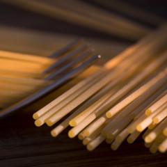 Spaghetti, italian raw pasta
