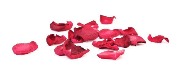 Beautiful red rose petals.