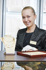 Jewellery shop sales assistant