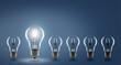 Leinwanddruck Bild - Ideas / Light Bulb