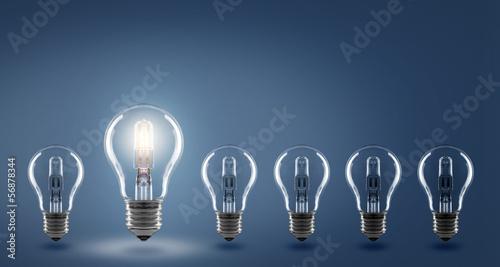 Leinwanddruck Bild Ideas / Light Bulb