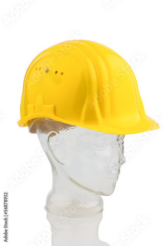 a construction worker's hard hat