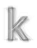 "Sketchy alphabet lowercase letter ""k"""