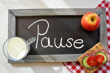 Pause Tafel Schule Frühstück