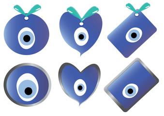 Nazar group/evil eye bead