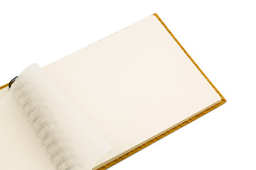 ring binder against white background