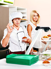 Male wearing chef uniform.