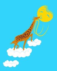 Giraffe loves the sun