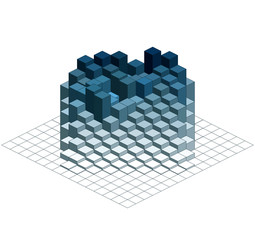 Infographic Isometric Vector Graph